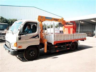 Xe tải Hyundai HD72 gắn cẩu soosan 2 tấn