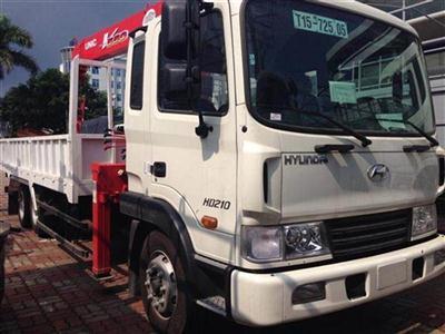 Xe tải Hyundai HD210 gắn cẩu Unic 5 tấn URV555